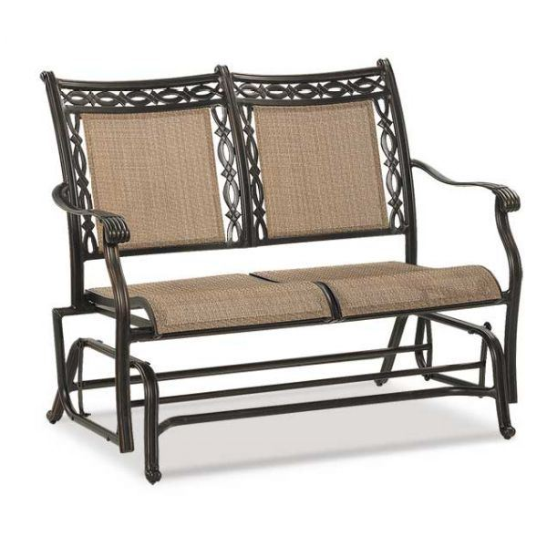 Picture Of Sling Loveseat Glider