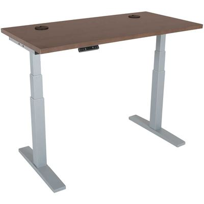 Picture of Power Height Adjustable 24x48 Walnut Top Table