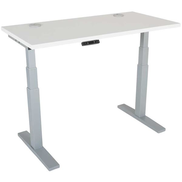 Picture of Power Height Adjustable 24x48 White Top Table