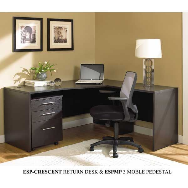 Espresso Crescent Return Desk