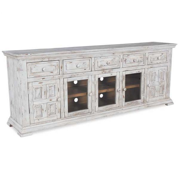 Nl3700 Stand82 Wht Isabella White 82 Quot Tv Stand By Nero Lupo Afw