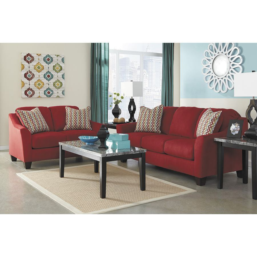Hannin spice red sofa p 958s ashley furniture afw Ashley home furniture weekly ad