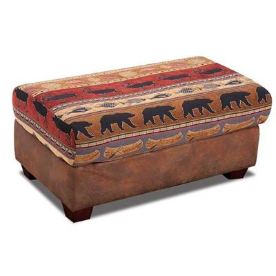 Picture of Bear Collage Ottoman