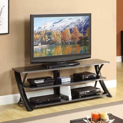 "Picture of 65"" Glossy Black TV Stand"