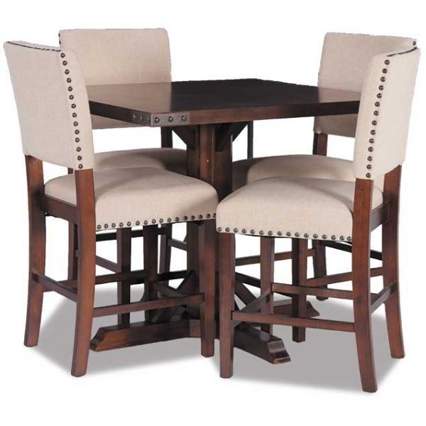 Modesto 5 Piece Counter Height Table Set  sc 1 st  AFW & Modesto 5 Piece Dining Set MDT432-5PC Office Star MDT432-AES/424-AES ...