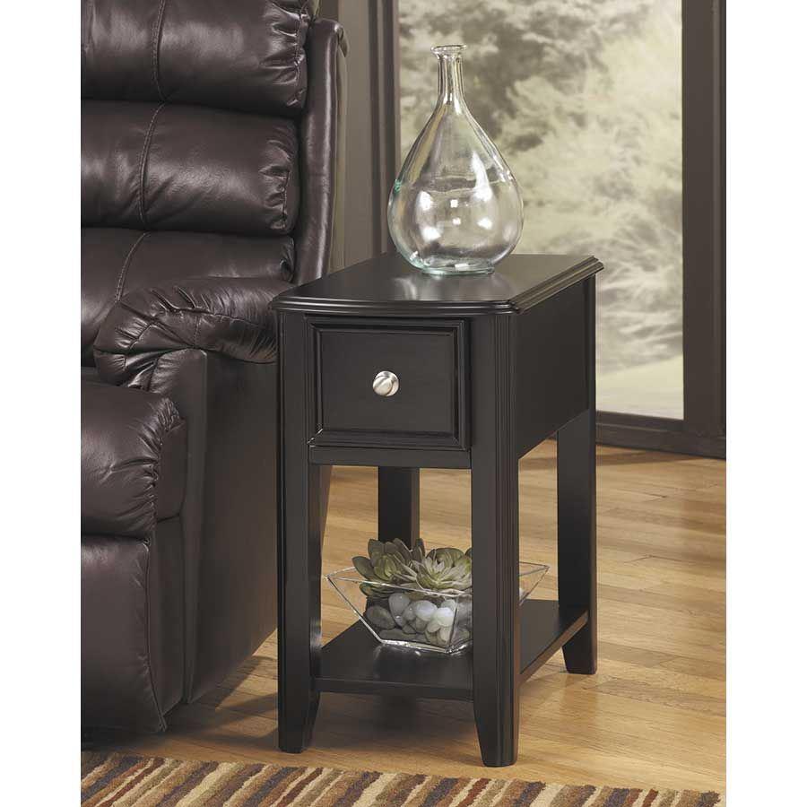 Breegin Black Chairside End Table Z T007 371 Ashley