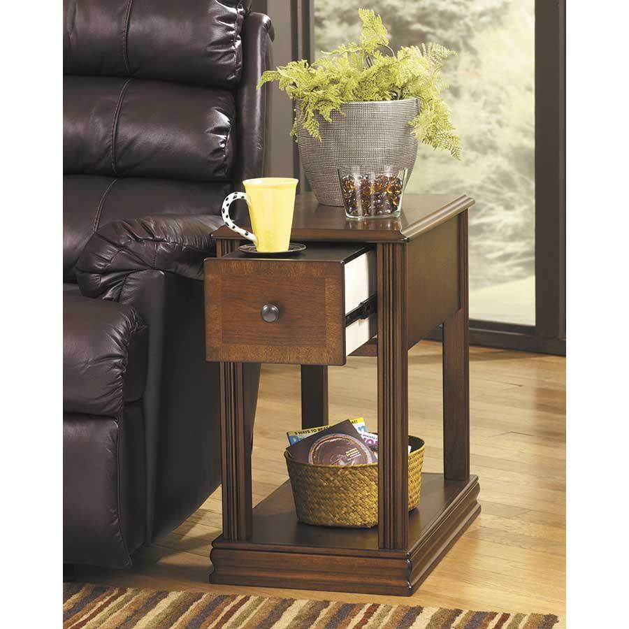 ... Picture Of Breegin Cherry Brown Chairside End Table