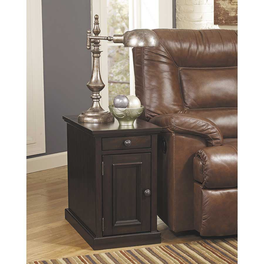 Ashley Furniture Table: Laflorn Sable Power Chairside End Table Z-T127-551