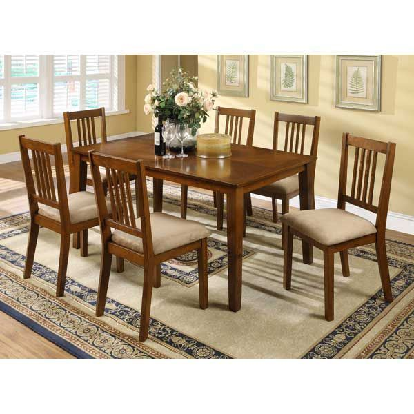 Mission Style Dining Room: Mission Style 7 Piece Dining Set Z-L11-7PC Condor L11-128T