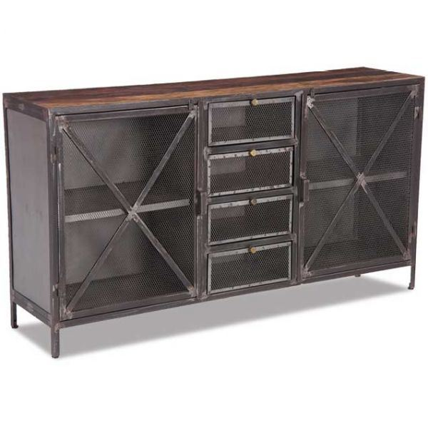 Sideboard Industrial sie a5401 vintage industrial sideboard by shivam international afw