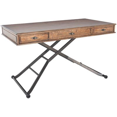"Picture of 60"" Sit and Stand Desk, Wood Top"