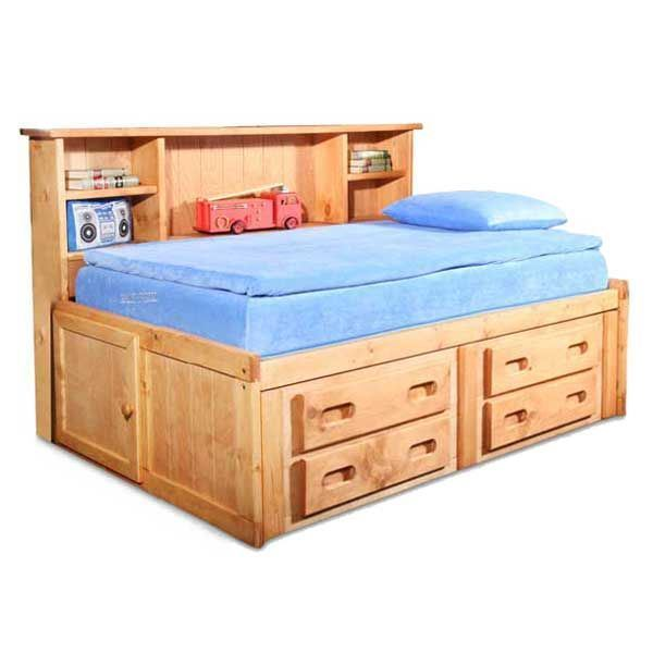 bunkhouse full captains bed