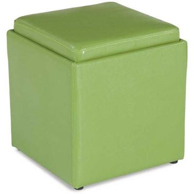 Picture of Blocks Green Storage Ottoman with Tray