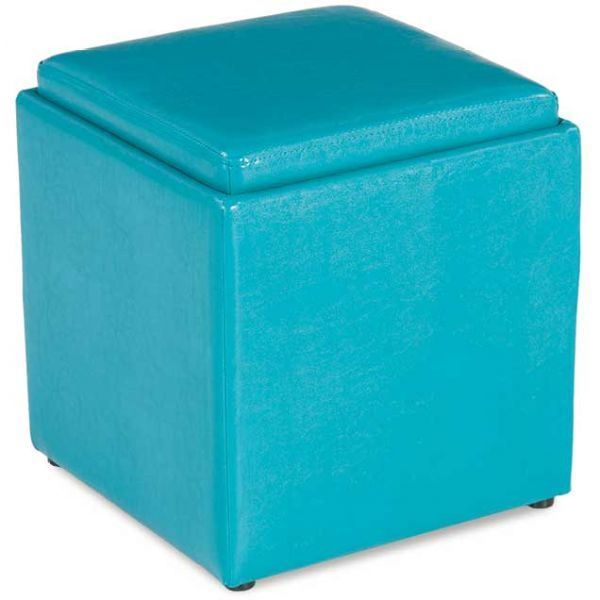 Blocks Teal Storage Ottoman with Tray  sc 1 st  AFW : aqua storage ottoman  - Aquiesqueretaro.Com