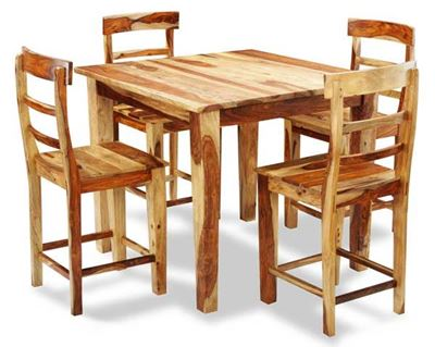 Picture of Tahoe Natural 5 Piece Counter Height Set