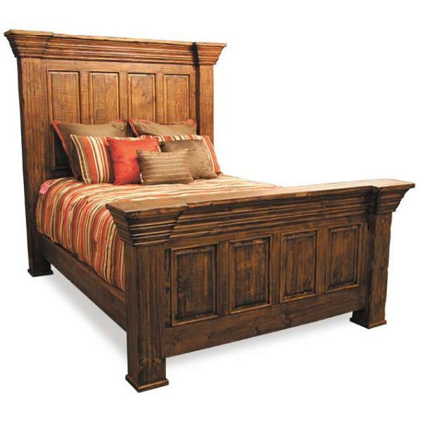 Picture Of Pine Isabella Queen Size Bed