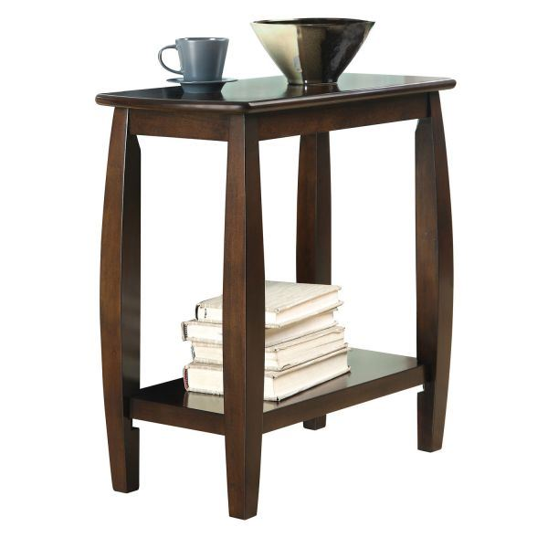 Chairside table walnut 900994 coaster company afw for Coaster co of america furniture