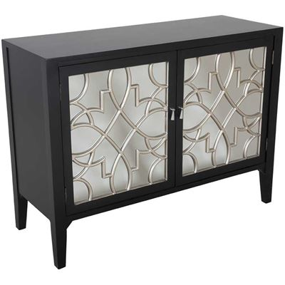 Picture of Black Mirrored Accent Cabinet