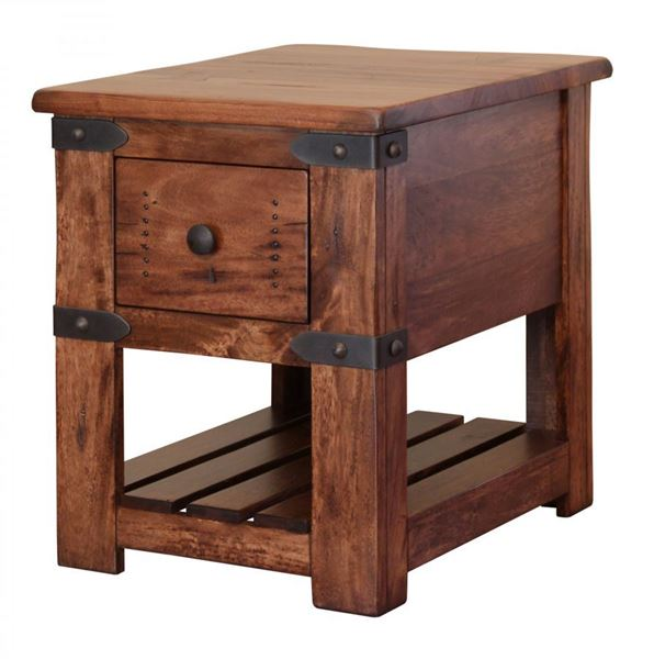 Parota chair side table cs ifd cst artisan
