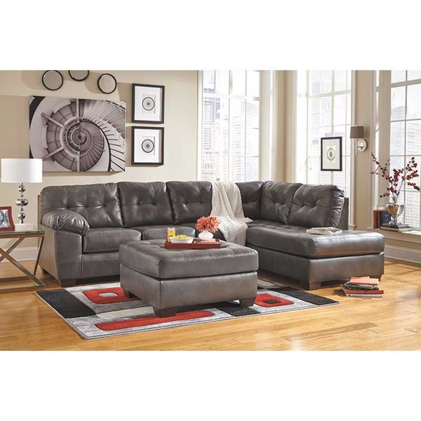 Ashley Furniture Sectional With Chaise alliston gray 2pc sectional w/ raf chaise 0n2-201rc-2pc | ashley
