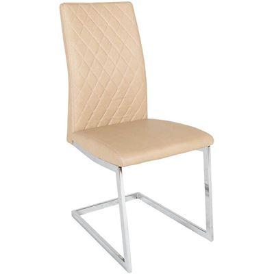 Imagen de Dining Chair Tan Chrome