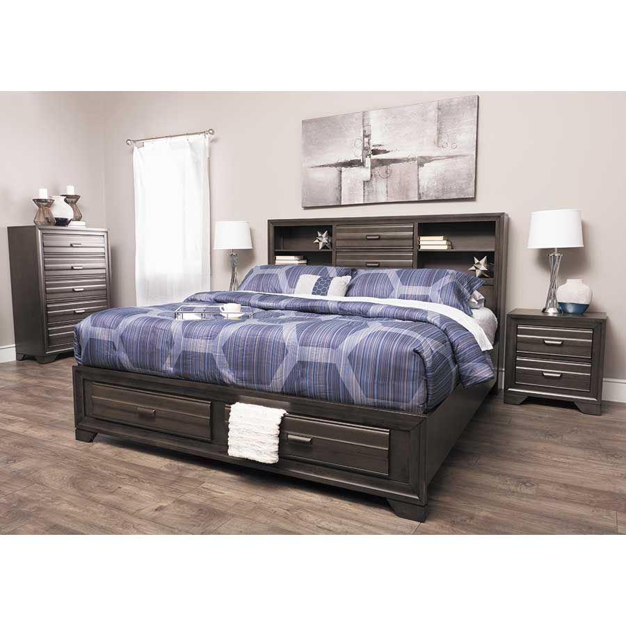 ... Picture Of Antique Grey 5 Piece Bedroom Set ...