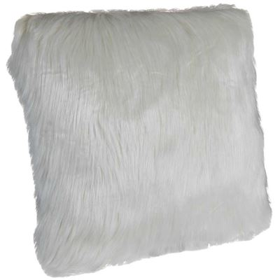 Picture of Boho 18x18 White Faux Fur Pillow *P