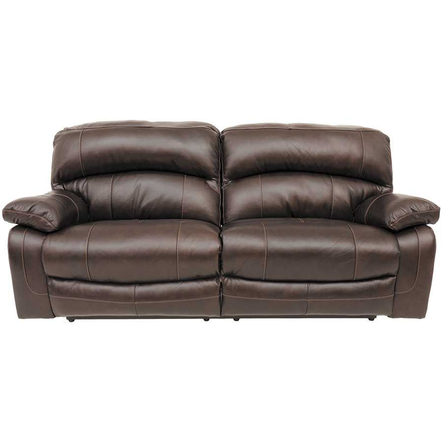 Damacio leather reclining sofa 0s0 982rs ashley for Leather reclining sofa