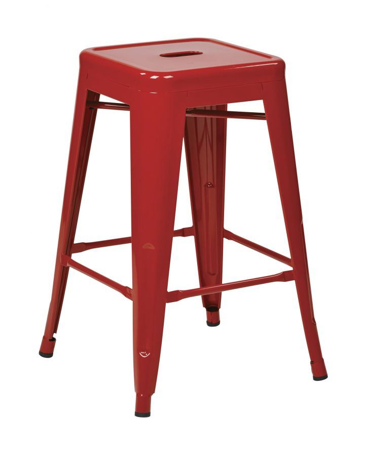24in Mtl Red Backless Stool 4pk Ptr3024a4 9 Office