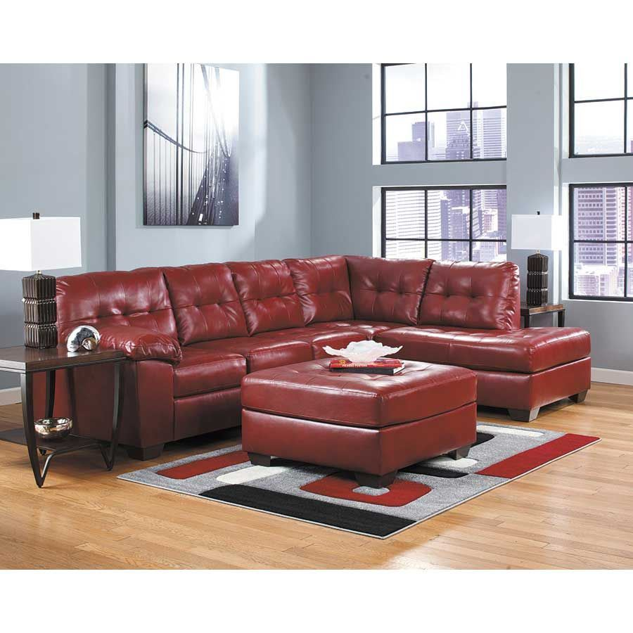 Ashley Furntiure: Alliston Salsa 2PC Sectional With LAF Chaise 0N0-201LC-2PC