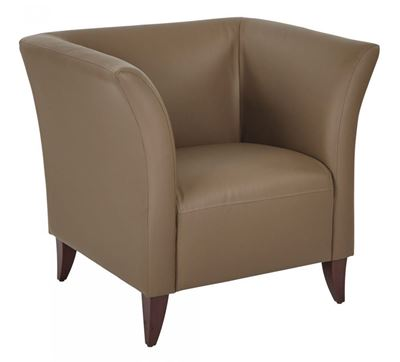 Picture of Taupe Faux Leather Club Chair *D