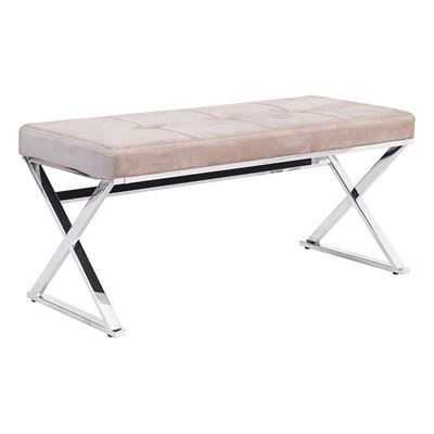 Picture of Allegiance Bench Beige Velvet *D