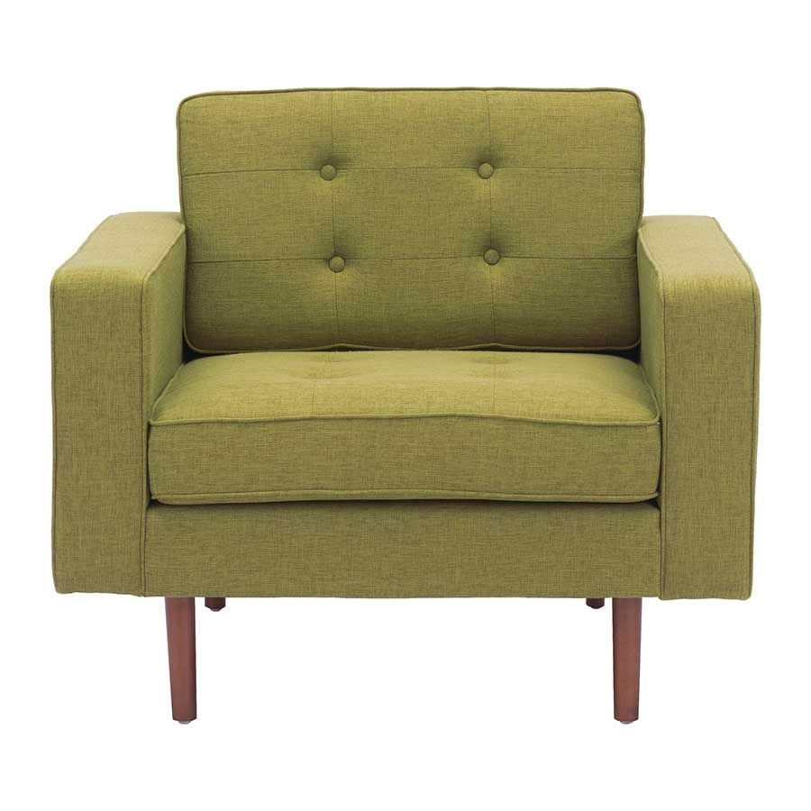Puget Arm Chair Green 100218 Zuo Modern Contemporary Afw