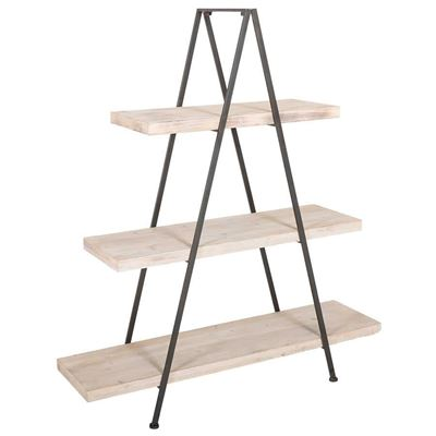 Picture of Wood And Metal Triangle Shelf
