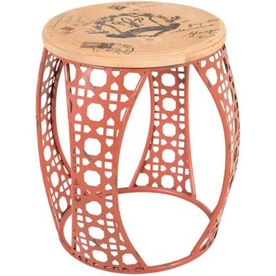 Imagen de Red Metal Accent Table