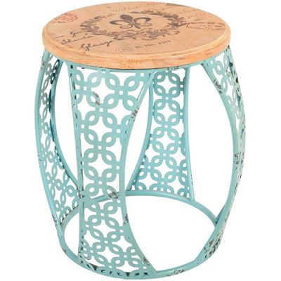 Imagen de Blue Metal Accent Table