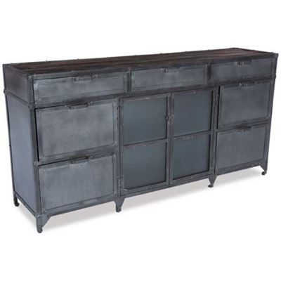 Picture of Iron 7 Drawer, 2 Door Cabinet