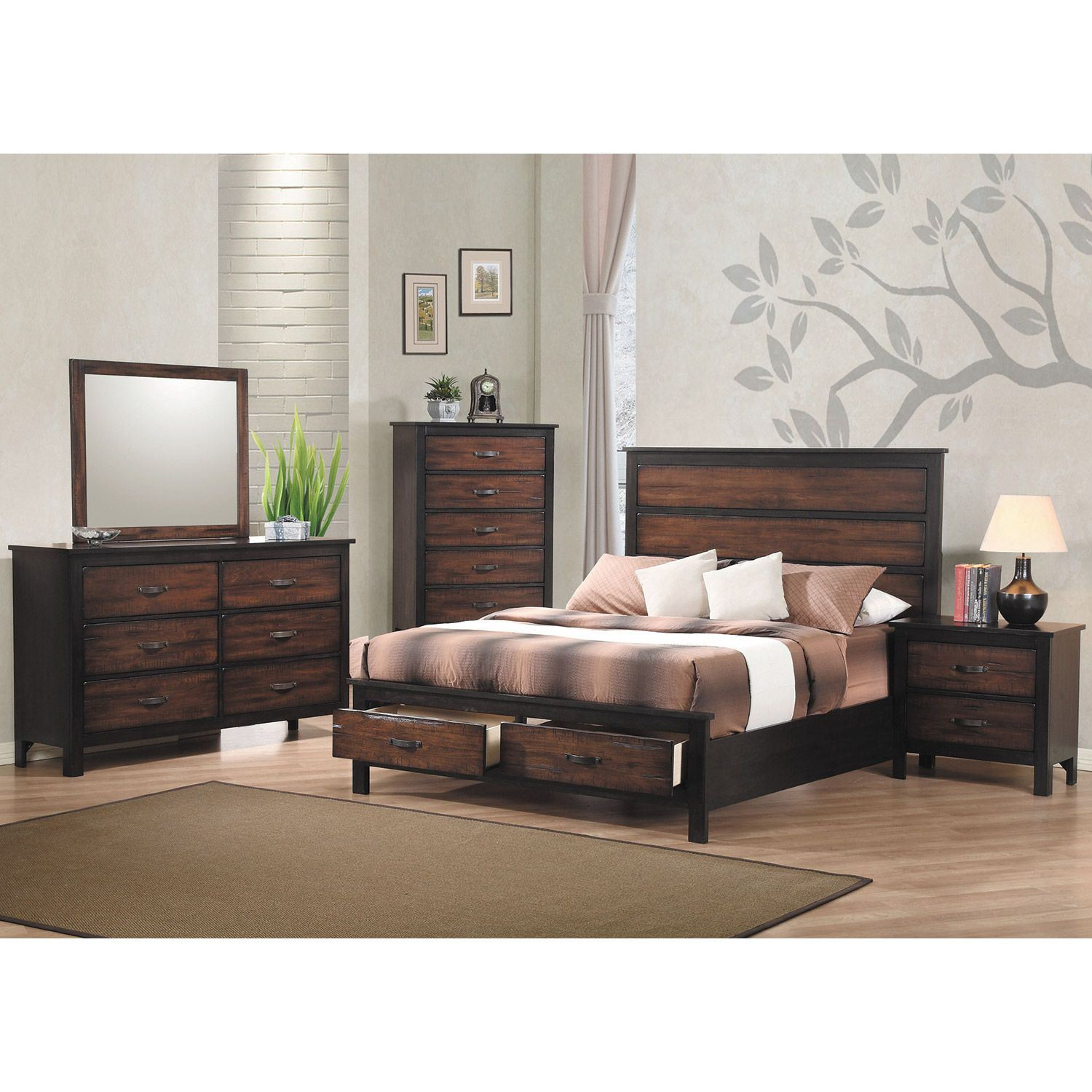 Conway 2 drawer nightstand 202 2 coaster furniture afw for Coaster co of america furniture
