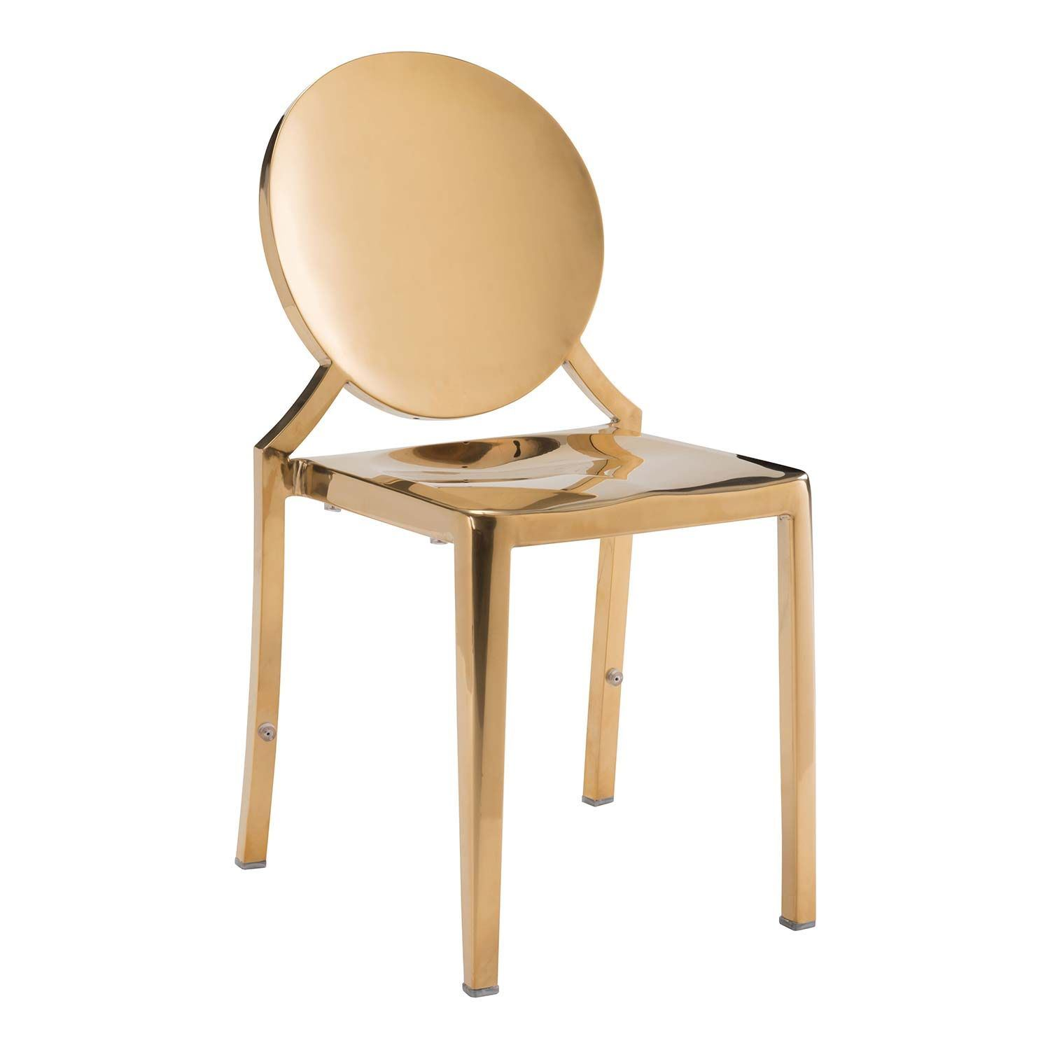Eclispe Dining Chair Gold 100553 Zuo Modern Contemporary