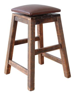 Picture of Antique 24-Inch Swivel Stool
