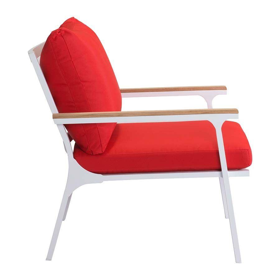 Maya Beach Arm Chair Red 703574 Zuo Modern Contemporary AFW