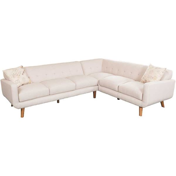 Remix 2PC Beige Sectional Sofa