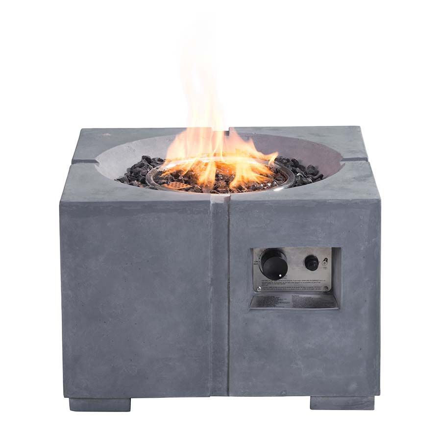 Dante Propane Fire Pit Gray 100412 Zuo Modern