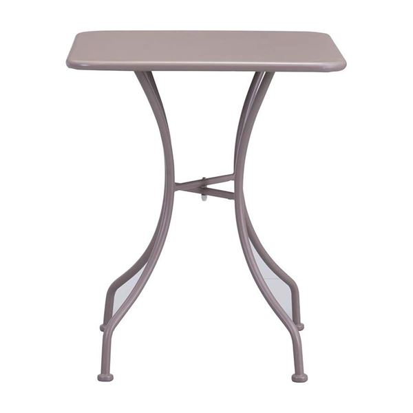 Oz Dining Square Table Taupe D