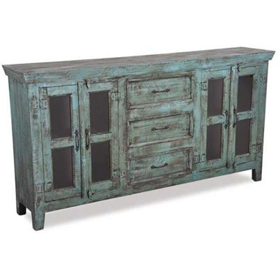 Imagen de Vintage 4 Door Sideboard in Washed Blue