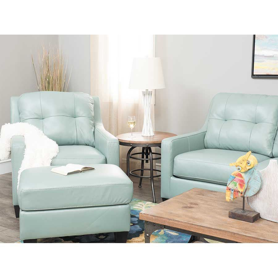 Ashley Furniture Manufacturers: Sky Leather Loveseat