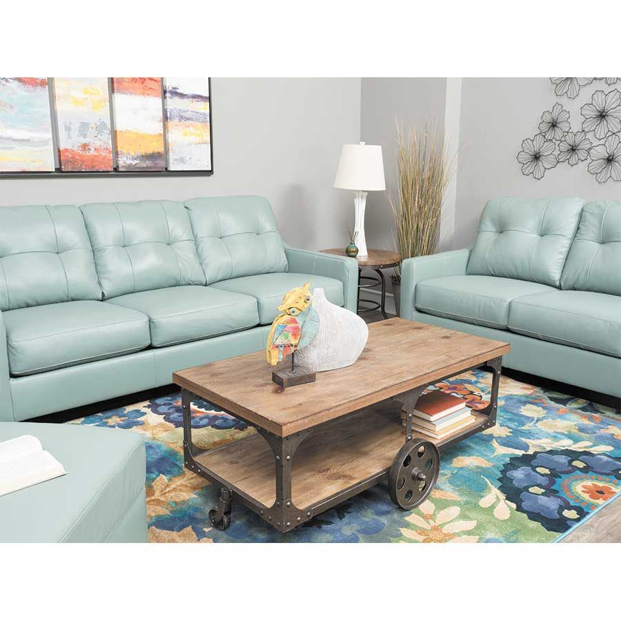 Sky Leather Loveseat Ashley Furniture Afw