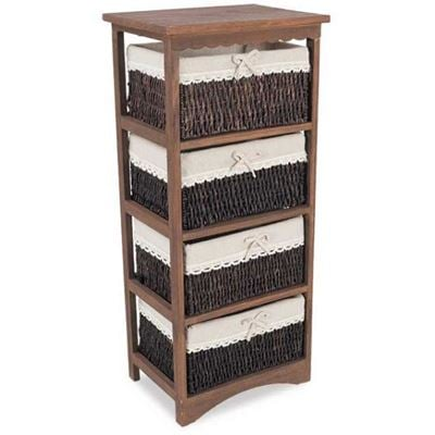Picture of Four Drawer Wicker Basket
