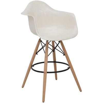 Picture of Rowan White Bar Arm Chair