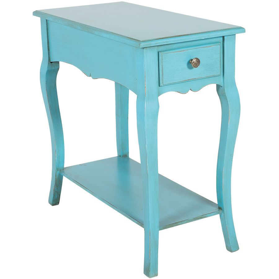 Teal side table v15 b394 cambridge home afw for Teal coffee table